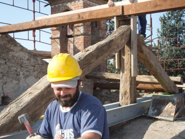 I lavori al tetto