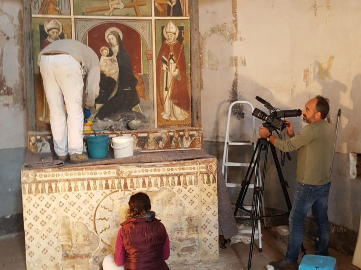 4 ottobre 2018. Parte il restauro degli affreschi